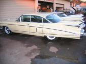 Yellow 1959 Cadillac Fleetwood by Copperstate Classic Cars