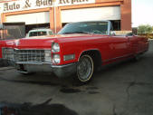 Red 1966 Cadillac Eldorado Convertible by Copperstate Classic Cars